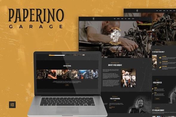Paperino Garage - Mechanic Elementor Template Kit - Business & Services Elementor