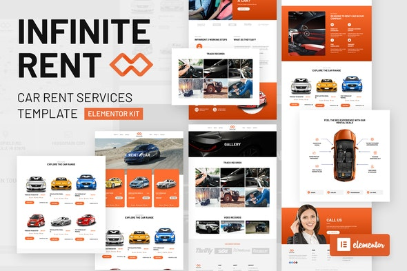 Infiniterent - Car Rental Elementor Template Kit - Automotive & Transportation Elementor