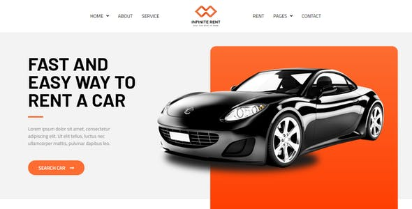 Infiniterent - Car Rental Elementor Template Kit