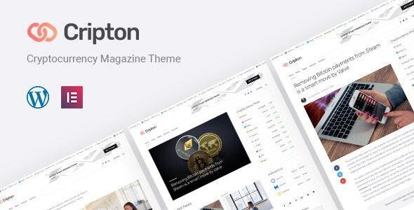 Cripton | Cryptocurrency Elementor Magazine WordPress Theme - News / Editorial Blog / Magazine
