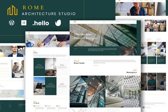 Rome - Modern Interior Elementor Template Kit - Real Estate & Construction Elementor