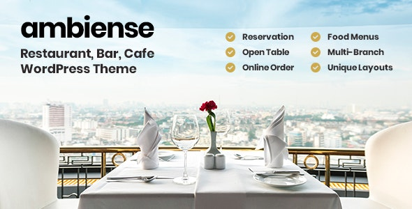 Ambiense - Restaurant & Cafe WordPress Theme - Restaurants & Cafes Entertainment