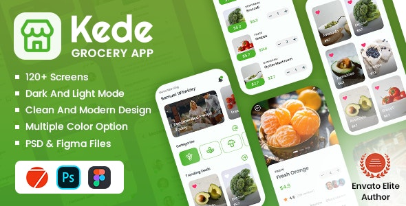 Grocery Mobile App Framework7 - Mobile Site Templates
