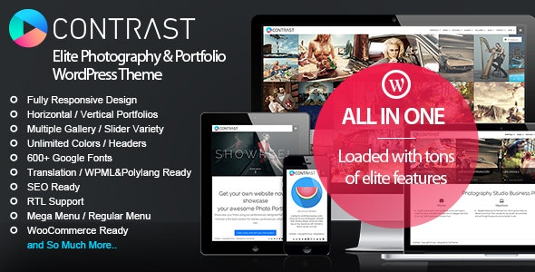CONTRAST - Elite Photography & Portfolio Theme - Creative WordPress