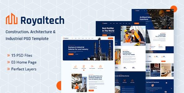 Royaltech - Construction PSD Template - Business Corporate