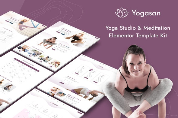 Yogasan - Yoga Studio & Meditation Elementor Template Kit - Sport & Fitness Elementor