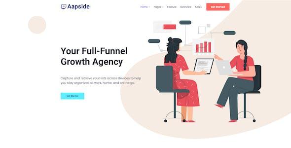 Aapside - App Landing WordPress Theme