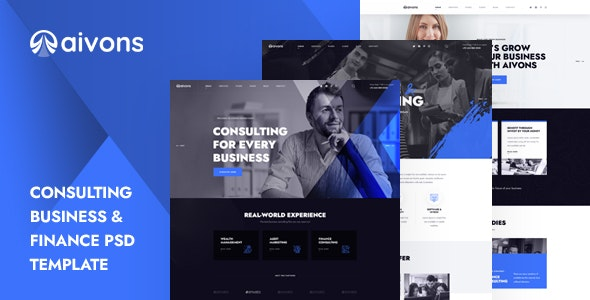 Aivons - Business Consulting PSD Template - Business Corporate