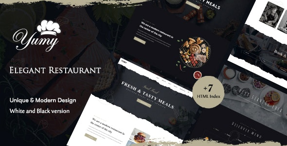 Yumy - Restaurant & Food HTML Template - Restaurants & Cafes Entertainment