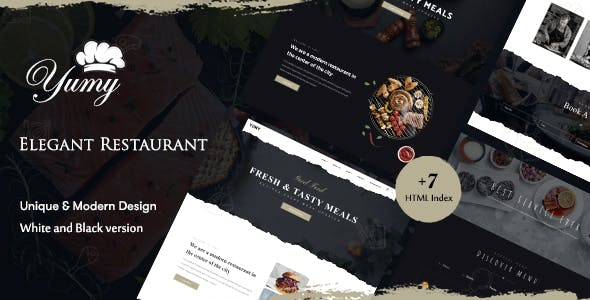 Yumy - Restaurant & Food HTML Template