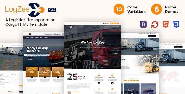 Logzee | Logistics, Transportation, Cargo HTML Template - Business Corporate