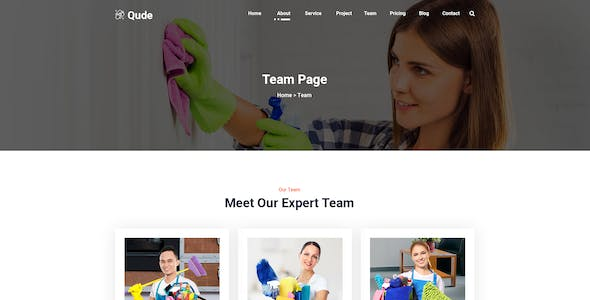 Qude- Cleaning PSD Template
