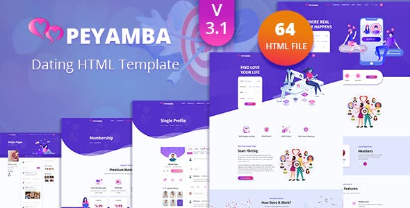 Peyamba - Dating Website HTML Template