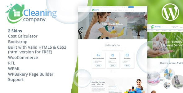 Cleaning Services WordPress Theme + RTL