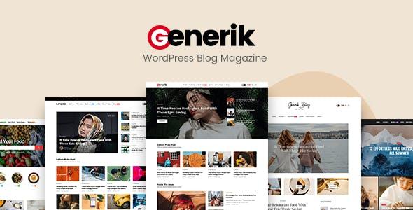 Generik - Multipurpose WordPress Blog Magazine Theme