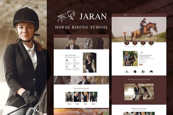 Jaran - Horse Riding School - Sport & Fitness Elementor