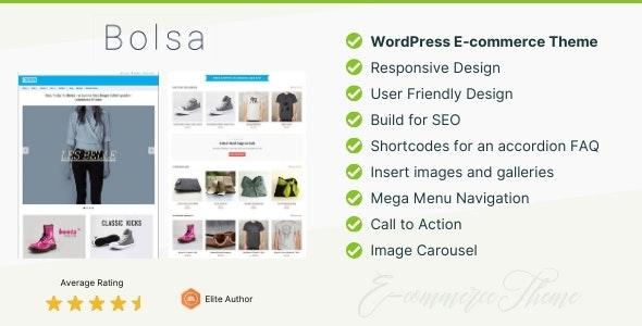 Bolsa – A Responsive WordPress E-commerce Theme - eCommerce WordPress