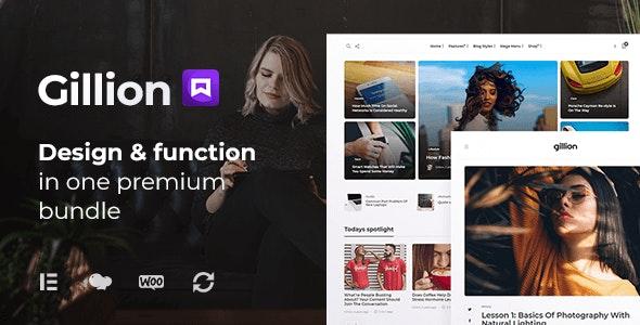 Gillion | Multi-Concept Blog/Magazine & Shop WordPress AMP Theme - News / Editorial Blog / Magazine