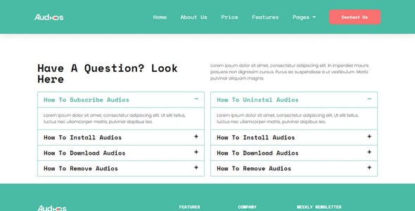 Audios - App Showcase Elementor Template Kit