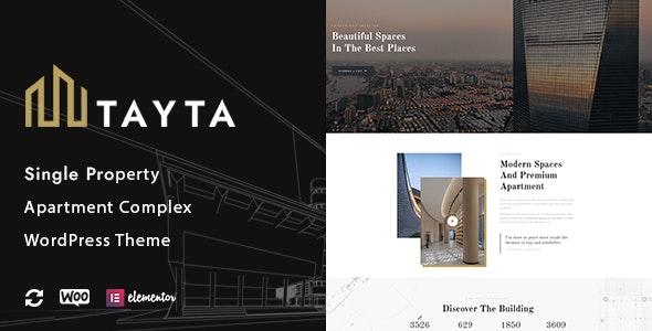 Tayta - Single Property & Apartment Complex Theme - Real Estate WordPress