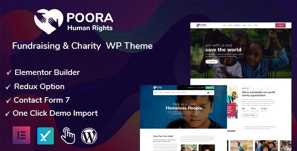 Poora - Fundraising & Charity WordPress Theme - Charity Nonprofit
