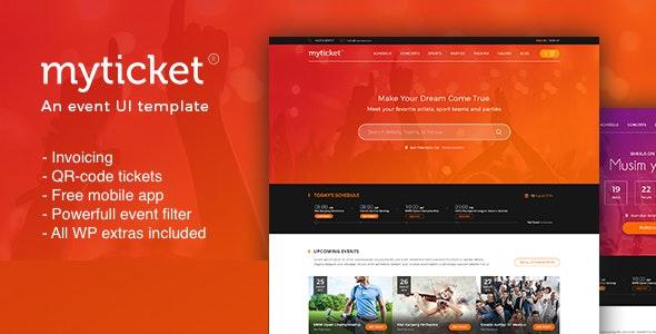 MyTicket v1.0.9 – Ticket/Event Management System WordPress Theme