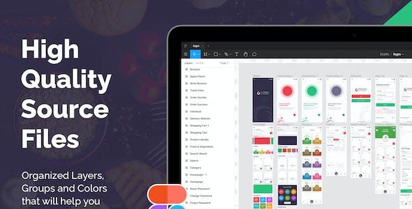 FOGRO | Food & Grocery Mobile App UI Kit