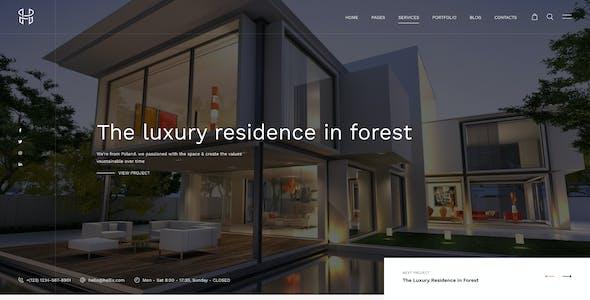 Hellix - Modern Architecture & Interior Figma Template
