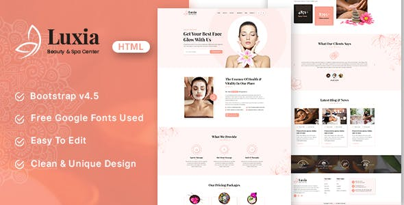 Luxia - Beauty & Spa Center HTML Template