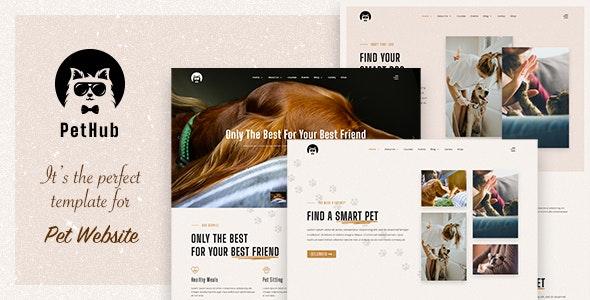 PetHub v1.0 – Dog, Cat Care & Veterinary Joomla Template