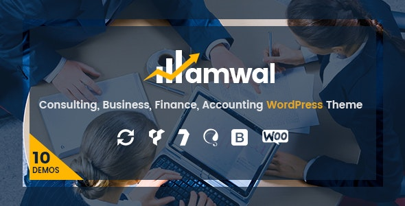 Amwal | Consulting Finance WordPress Theme - Business Corporate