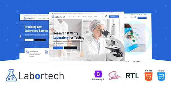 Labortech - Laboratory & Science Research HTML5 Template - Business Corporate