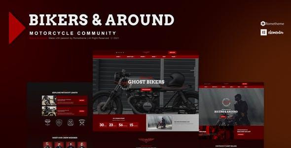 Bikers & Around : Motorcycle Club Elementor Template Kit