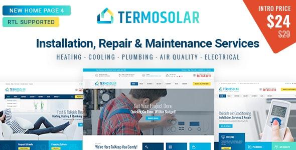 Termosolar - Installation, Repair & Maintenance Services HTML Template - Business Corporate
