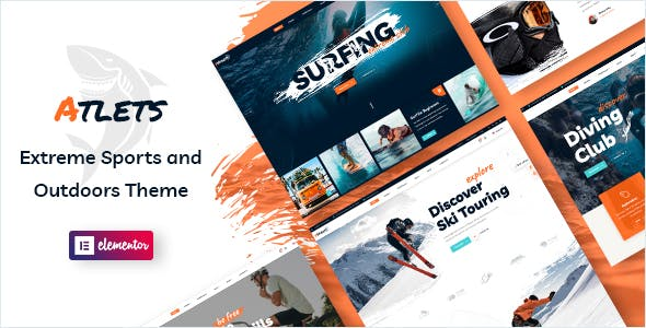 Atlets - Extreme and Outdoors WordPress Theme