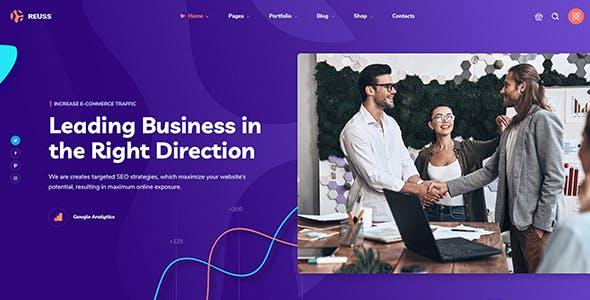 Reuss - SEO Marketing Agency WordPress Theme