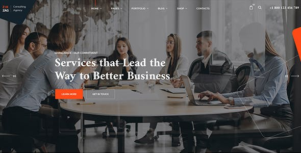 ZikZag - Consulting & Agency WordPress Theme
