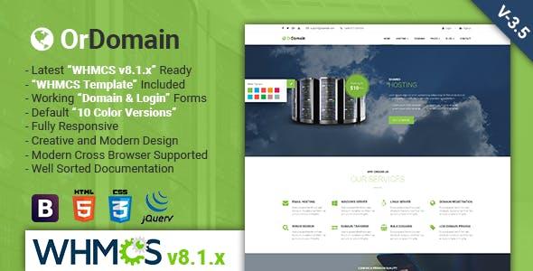 OrDomain | Responsive HTML5 WHMCS Hosting Template
