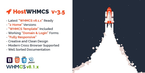 HostWHMCS   Responsive Web Hosting with WHMCS Template - Hosting Technology