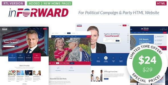 inForward - Political Campaign, Party, Nonprofit HTML Template