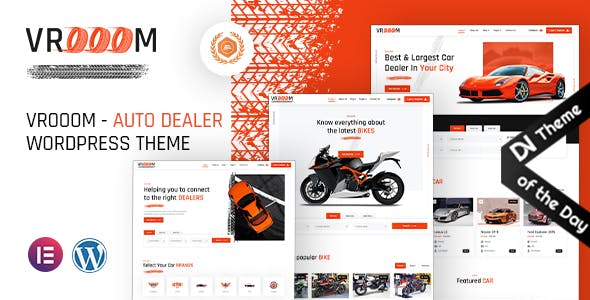Vrooom - Auto Dealer WordPress Theme
