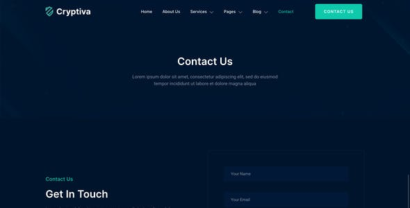 Cryptiva – Cyber Security Services Elementor Template Kit