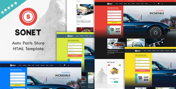 Sonet - Auto Parts Store HTML Template - Shopping Retail