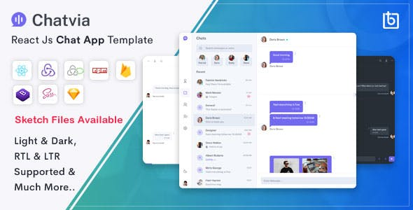 Chatvia - React Chat App Template
