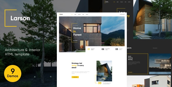 Larson   Architecture & Interior HTML template - Business Corporate