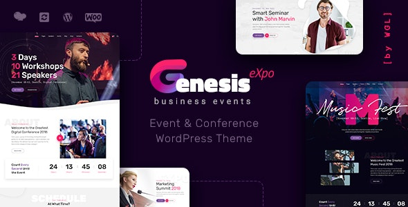 GenesisExpo | Business Events & Conference WordPress Theme - Events Entertainment