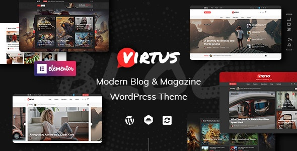 Virtus - Modern Blog & Magazine WordPress Theme - News / Editorial Blog / Magazine