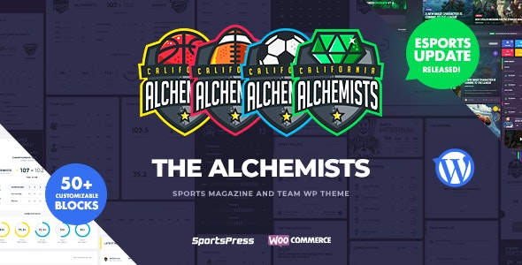 Alchemists - Sports, eSports & Gaming Club and News WordPress Theme - Nonprofit WordPress