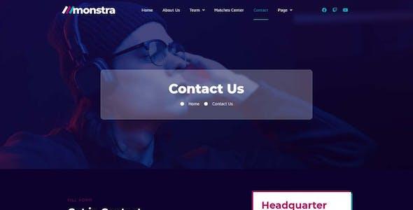 Monstra - Esports & Gaming Elementor Template Kit