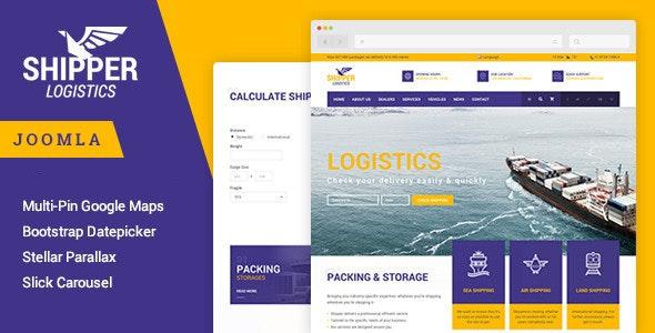 Shipper Logistic - Transportation Joomla Template - Corporate Joomla